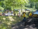 Spectators await finishers